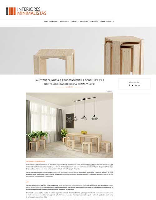 2018 Interiores Minimalistas España